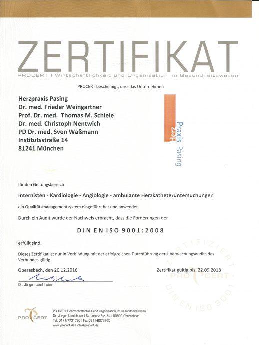 Zertifikat PROCERT